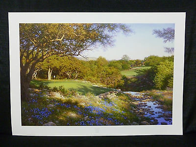 Larry Dyke Signed Evening Shadows Golf Limited Edition Lithograph