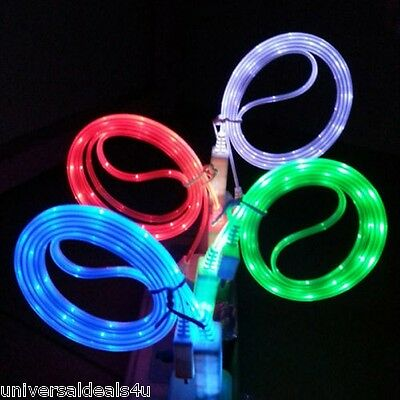 Colorful USB Data Sync LED Light Charger Cable for Apple iPhone 5, 6, 7, 8, X