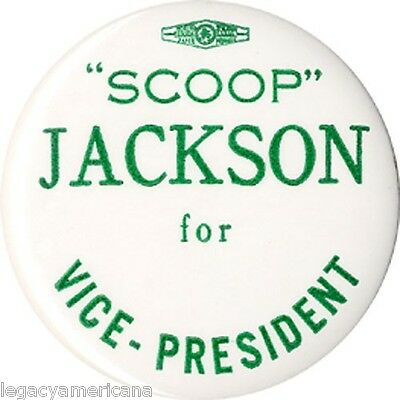 1976 Scoop Jackson Jimmy Carter VP Hopeful Button (2273)