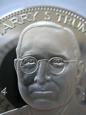 7/8-Oz President Harry S.truman Freemason Masonic Coin Silver.925 + Gold
