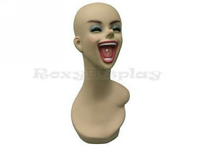 Free Shipping Female Mannequin Head Bust Wig Hat Jewelry Display Smile #Y5LE