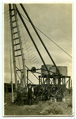 1915 RP POSTCARD DELIVERING HEAVY MACHINERY TERRYS RUN LAKE BOOMERANG SA r14