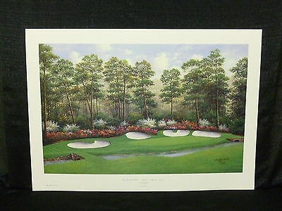 Charles Beck Signed Azelea Hole 13 Augusta National Masters Golf L/E Lithograph