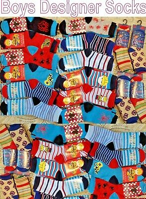 Wholesale Job Lot Boys Children Kids Designer Socks Car Boot Trade Pallet