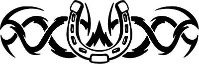 Lucky Horseshoe Decal Horse Farrier Blacksmith Truck  Car  Window
