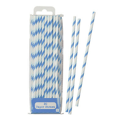 Celebration Events & Colourful Fun Tables Blue Paper Party Straws