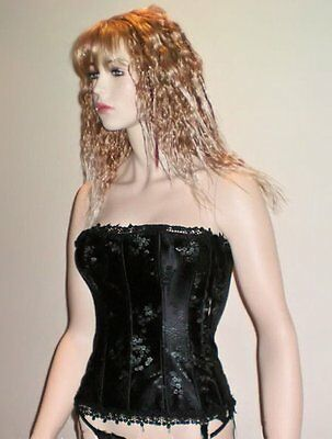 Floral Tapestry Lace Corset Black (Medium)
