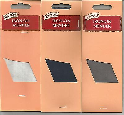 Iron-On Mender / Patch - Ex Woolworths Stock - Available in Grey, Navy or White.