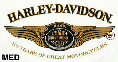 Harley Davidson 110Th Anniversary Oval Decal *made In Usa* Med Obsolete Design