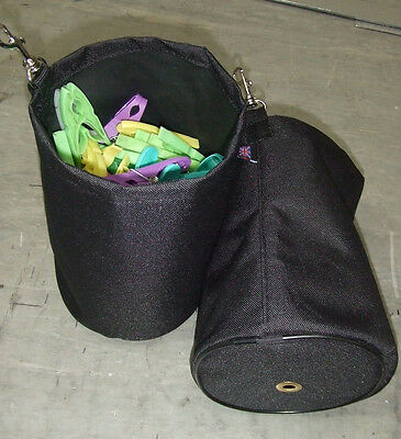 CLOTHES PEG BAG FOR USE WITH LAUNDRY WASHING LINE ROTARY DRYER        made in UK