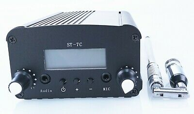 NEW!ST-7C 1W/5W stereo PLL FM transmitter broadcast radio station only host