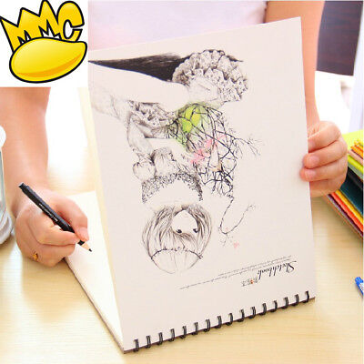 """Long Hair"" Big Blank Papers Drawing Sketchbook Cute Art Notebook Diary Planner"