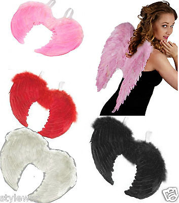Angel Halo Or Wings Fancy Dress Fairy Feather Costume Large Adult Hen Halloween