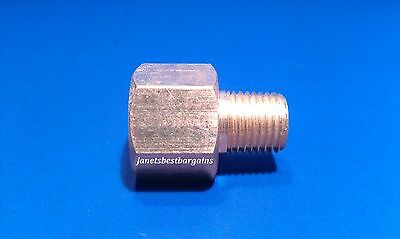 Solid Brass Hex Adapter Fitting Reducer 1/4 Male 3/8 Female NPT Air Fuel Water