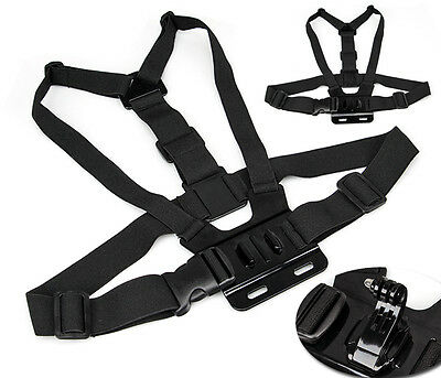 Head Strap Mount + Chest Harness For Go Pro HD Hero 5 4 3+ 3 2 1 Chesty+ J-hook