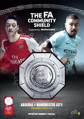 * ARSENAL v MANCHESTER CITY (MAN) - 2014 COMMUNITY SHIELD - MINT PROGRAMME *