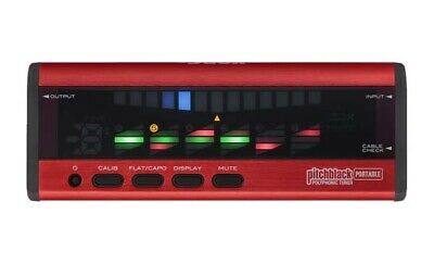 Korg PB04 Pitchblack Guitar Tuner Portable Polyphonic PB04RD - Red