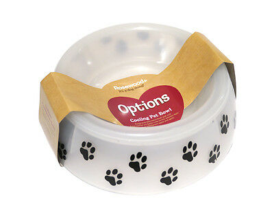 Cooling Pet Bowl Dog Puppy Paw Cat Kitten Travel Plastic Food Water 15x6cm