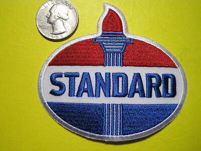 STANDARD OIL UNIFORM CLOTH PATCH 3 INCH CREST SIZE LOOK AND BUY!