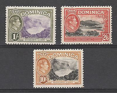 Dominica 1938 Kgvi Pictorial 1/- 2/6 And 10/-