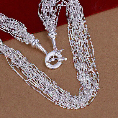 XMAS wholesale free shipping 925sterling solid silver chain necklace YN642 box
