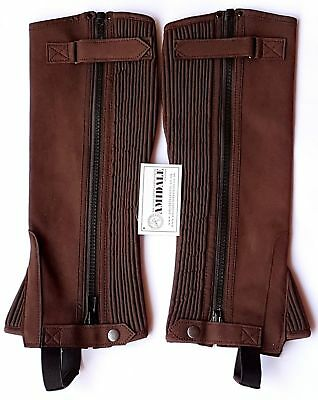 Half Chaps Horse Riding Equestrian Brown Amara All Sizes By Amidale Bnwt