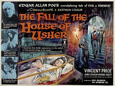 The Fall of the House of Usher - Vincent Price - A4 Laminated Mini Poster