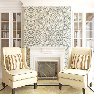 Stephanie's Lace Allover Stencil - Lace Wall Pattern Stencils - DIY Wall Decor