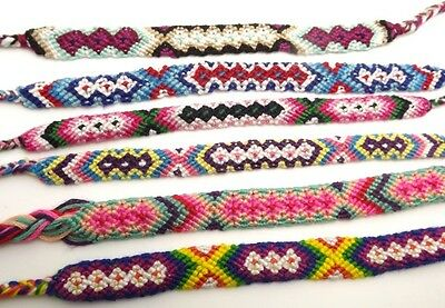 HAND-WOVEN 30 pcs Color mixing Ethnic style THIN FRIEND BRACELET Free shipping