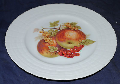 Bavaria Germany HUTSCHENREUTHER Fruit Salad Plate Apples & Cherries 8""