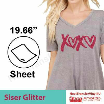 "Siser GLITTER 3 Sheets 20"" x 12"" - 'Mix It Up' Option Available!"