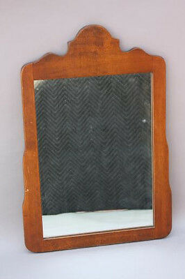 1930s Simple Rancho California Monterey Period Wood Hand Wall Mirror (5298)
