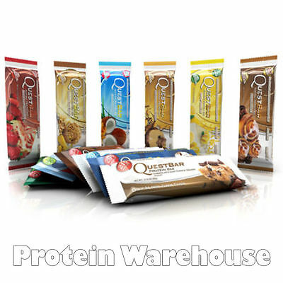 12 X 60g Quest Nutrition Protein Bars Whey Low Carb All Flavours Fast Free P&P