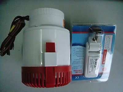 Automatic 3700 GPH Submersible Marine Boat Electric Bilge Pump with Float Switch
