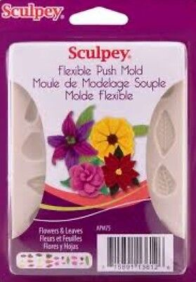 Sculpey Flexible Push Mold - FLOWERS & LEAVES
