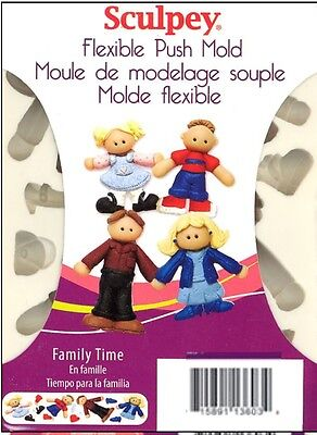 Sculpey Flexible Push Mold - FAMILY TIME