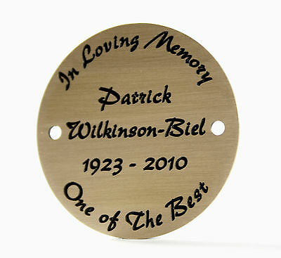 "2"" circular Brass Engraved Plaque/Name plate. Deep Engraving in Solid Brass"