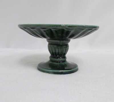 1960's Hull F6 Olive Willow Emerald Forest Green Pedestal Candy Bowl Dish