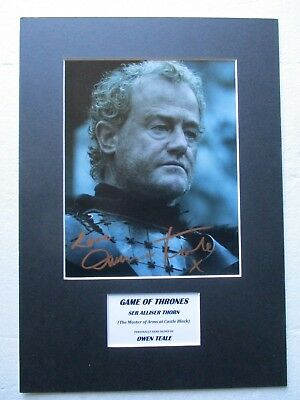 Owen Teale *ser Allister Thorn* Game Of Thrones Signed Mounted Photo Display-Coa