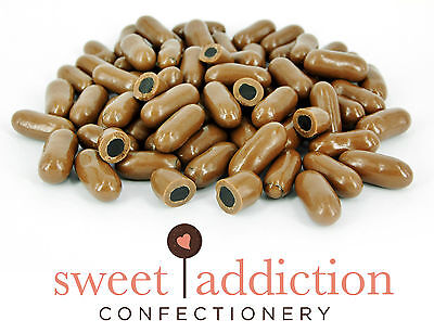 500g Premium Milk Chocolate Covered Licorice Bullets - Bulk Bag -Sweet Addiction