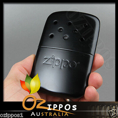 Zippo Hand Warmer Black Polish Deluxe with Filling Cup & Pouch, Outdoor 40334