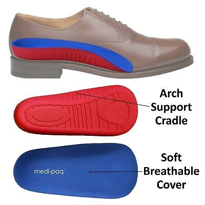 MEDIPAQ™ ¾ Arch Aid Foot Support - Plantar Fasciitis Pain High Orthotic Insole