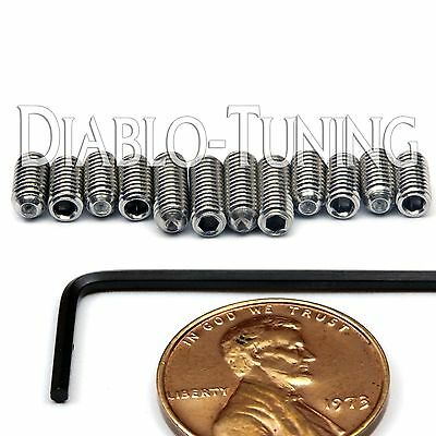 M3 x 6mm & 8mm Stainless Steel Saddle Height Screws 12 & Hex -  Fender MIM Strat