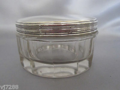 Antique French Sterling Silver & Baccarat Crystal Box 1820's
