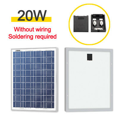 20W 12V Poly Solar Panel Module Without Wiring Soldering Required