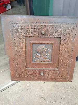 Cast-Iron Fire Front Plate Figural Face F1