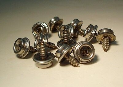 """Dot STUD with Stainless Steel 1//8/"""" X 3//8/"""" Rivets Marine Boat Snaps 25 sets"""