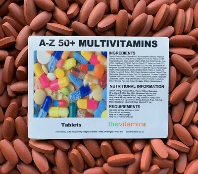 The Vitamin A - Z / 50+ Multi Vitamins 365 Tablets - Bagged