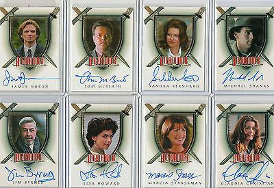 Complete Highlander & Expansion Autograph Card Selection NM Rittenhouse 2003