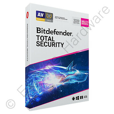 Bitdefender Total Security & VPN Multi Device 2020 5 PCs Users 1 Year Retail DVD